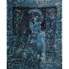 Celtic Angel Teal Single Tapestry