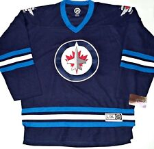 NWT WINNIPEG JETS L XL MENS ADULT NHL LICENSE HOCKEY JERSEY EMBROIDERED  STITCHED 21cb9710f