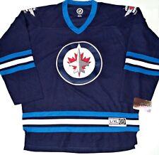 NWT WINNIPEG JETS L/XL MENS/ADULT NHL LICENSE HOCKEY JERSEY EMBROIDERED STITCHED