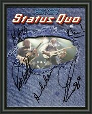 Status Quo - A4 SIGNED AUTOGRAPHED PHOTO POSTER  FREE POST