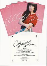 CARLY RAE JEPSEN Kiss 4 PROMO STICKERS for cd MINT Call Me Maybe CANADIAN IDOL