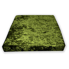 Mv12t Olive Lime Diamond Crushed Velvet 3D Box Seat Cushion Cover Custom size