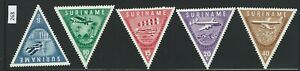 268 Suriname triangle stamps Mint Hinged