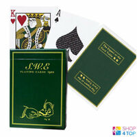 SWE GREEN ELLUSIONIST BICYCLE PLAYING CARDS DECK MAGIC TRICKS USPCC NEW