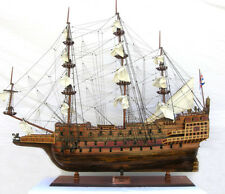 """HMS Sovereign of The Seas 1637 Tall Ship 90""""Long Monumental Wood Model Assembled"""