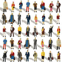 40pcs Different 1:87 HO Scale All Standing People Figure Model Train Layout