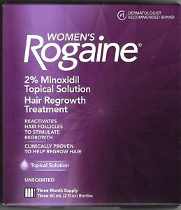 Women's Rogaine, Hair Regrowth Treatment, 3 boxes, 9-month supply, liquid, new