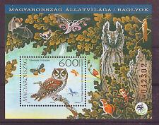 Hungary - 2017. Fauna of Hungary - Owls - Souvenir sheet - Mnh