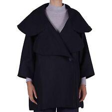 ALPHA 60 Black Wool Oversized Lapels Drape Minimal Layer Jacket Coat Size M