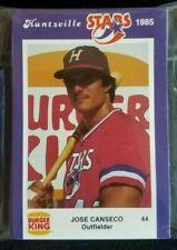 1985 Huntsville Stars Complete Minor League Team Set Jose Canseco Rookie Card RC