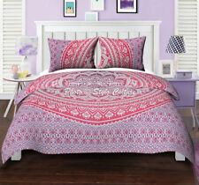 Indian Ombre Mandala Quilt Duvet Bedding Doona Comforter Twin Queen Bed Set