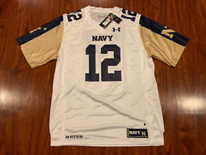 Under Armour Men's Navy Midshipmen White Rivalry Game Football Jersey Large L