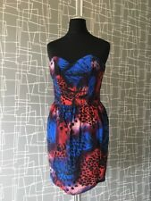 Topshop Bandu Imprimé Léopard 80 S Robe Sz 6 Fancy Dress Halloween