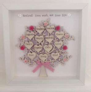 Personalised Retirement Family Tree Gift - Friend | Work Colleague | Leaving