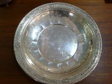 """Towle Sterling Tray Silver Tray Charger Plate Old Master #6668 12"""" Wide Unique"""
