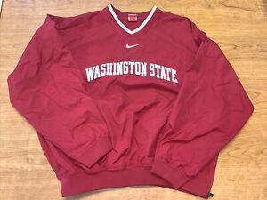 Washington State Nike Mens Size L Windbreaker Pullover Jacket