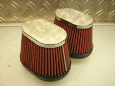 """2x RACING CAFE-RACER AIR FILTER OFFENE LUFTFILTER XS650 XS500 XS400 """"K&N STYLE"""""""