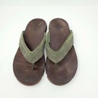Chaco Men's Brown Leather Flip Flops Sandals Size 12 Genuine Authentic
