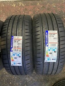 2x Michelin Pilot Sport 4 NEW  225 40 18  (92Y)  225/40/18   2254018  Extra Load