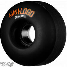 "MINI LOGO ""C-Cut"" Skateboard Wheels 54mm 101a by Bones Street Park Ramp BLACK"
