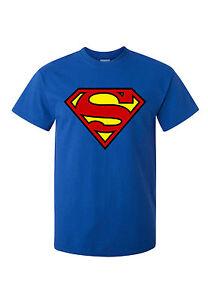 * SUPERMAN LOGO *  T SHIRT!  CLASSIC  ...  ALL SIZES ! BLUE  dc comics