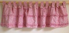 Pier 1 Import Kids TAB TOP VALANCE~ Pink Floral & Ruffle Detail~ Girls