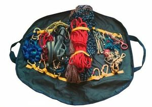 Strong bag for carrying climbing gear kit & ropes.