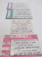 LOT OF 4 ERIC CLAPTON CONCERT TICKETS 1987 1988 1992 1994