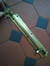 "Antique Original Solid Brass Very Large 10"" Slide Sliding Bolt Lock"