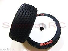 Louise RC 1/8 Cone L-T3192VW Super Soft (2pcs) Premounted w/ White Dish Wheel