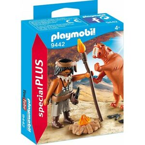 Playmobil Special Plus 9442 Caveman with Sabertooth Tiger Toy