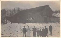 C13/ near Cuba New York NY Real Photo RPPC Postcard c1910 Family Barn Farm