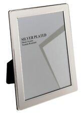 "MATURI SILVER PLATED FLAT EDGE PICTURE PHOTO FRAME 5"" X 7"""