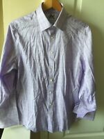 Charles Tyrwhitt Mens Slim Fit Non iron Dress Shirt 16 32 Purple Button Up Large
