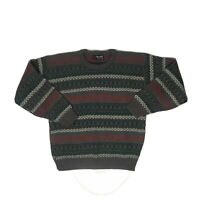 Vtg Scandia Coogi Style Knit Sweater Mens M Biggie Cosby Usa Made Shirt Striped