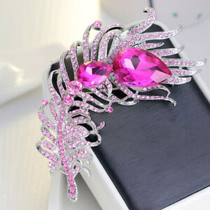 Hot Sale Peacock Feather Brooch Coat Personality Luxury Party Jewelry