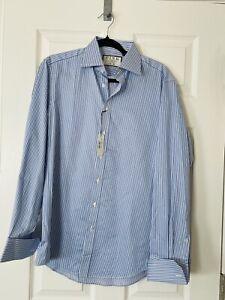 NWT PINK Thomas Pink SF Grant STR Striped Button Down Shirt - 14 1/2 33