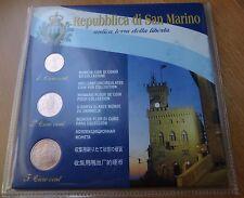 1+2+5 Cent SAN MARINO 2004 im Blister Euromünzen aus KMS #2_1