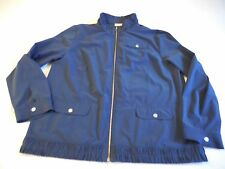 Weekends Chico's Active Jacket Misses XL Blue Snap Pockets Snaps Zip Up Size 3