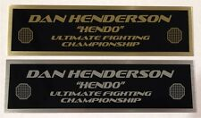 DAN HENDERSON UFC nameplate for signed mma gloves photo or case