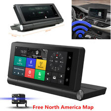 "6.86"" Touch Screen Car DVR Dual Lens Bluetooth Video Recorder + GPS Navigation"