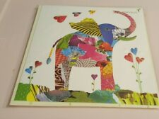 PAPURUS LUCKY ELEPHANT TRUNK UP ORNATE BIRTHDAY CARD PATCH GIFT ENVELOPE