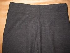 EILEEN FISHER VERY DARK GRAY 100% WOOL STRETCH WAIST PANTS SIZE XS ELEGANT