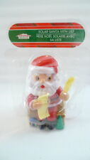 Solar Santa Claus With List Figurine Moves His Eyes And Head Holiday Decor