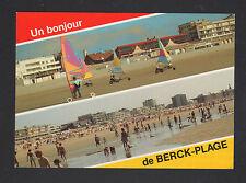 BERCK PLAGE (62) CHAR à VOILE & HOTEL tres animé en 1990