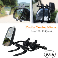 Pair Trailer Towing Rearview Mirror Extension Wide Field Adjustable Mirror Glass