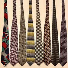 8 Men's Ties Geometric Patterns Bright Retro Kuppenheimer Dion Vtg Silk Tie Lot