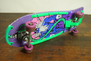 80er Vintage Skateboard Saturn Board Plate Neon Green Iconic Classic 90er