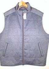 Peter Millar Wool Cashmere Gray Vest Jacket with Suede Trim Men 2XL NWT $425