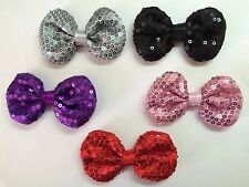 "Wholesale 5 Pcs 3"" Bows No Clips Baby Girl Hair Bow Supplies."